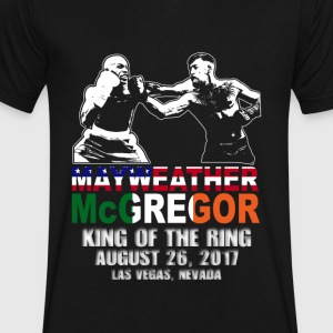 Floyd Mayweather & Conor McGregor Fight Shirt - Men's V-Neck T-Shirt by Canvas