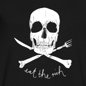 Eat The Rich - Men's V-Neck T-Shirt by Canvas