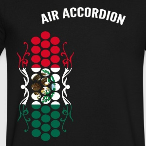 Air Accordion champions - Flag of Mexico - Men's V-Neck T-Shirt by Canvas