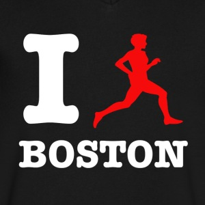 boston design - Men's V-Neck T-Shirt by Canvas