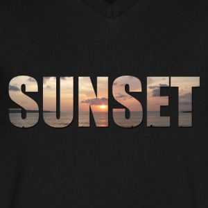 Sunset - Men's V-Neck T-Shirt by Canvas