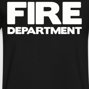 FIRE DEPARTMENT - Men's V-Neck T-Shirt by Canvas