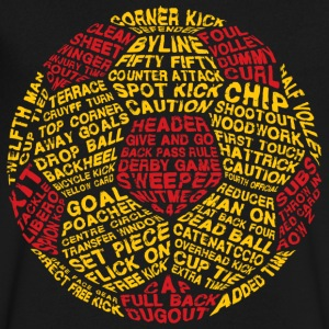 Soccer Ball Typography - Men's V-Neck T-Shirt by Canvas