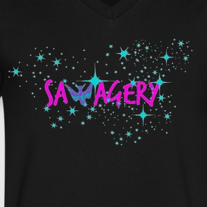 Savagery Merch - Men's V-Neck T-Shirt by Canvas