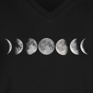 Moon phase - Men's V-Neck T-Shirt by Canvas