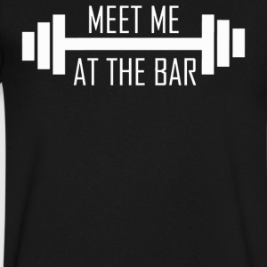 MEET ME AT THE BAR - Men's V-Neck T-Shirt by Canvas