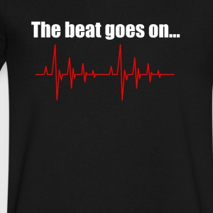 The beat goes on - Men's V-Neck T-Shirt by Canvas