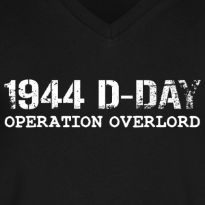 1944 D-Day Operation Overlord (White) - Men's V-Neck T-Shirt by Canvas