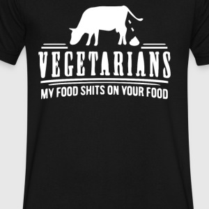 VEGETARIAN - Men's V-Neck T-Shirt by Canvas