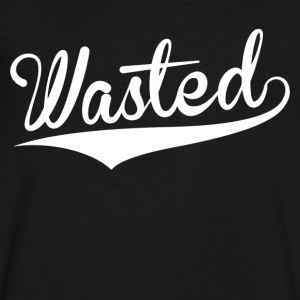 Wasted - Men's V-Neck T-Shirt by Canvas