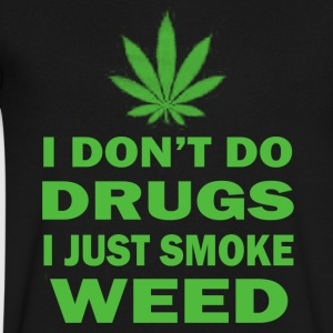 I Just Smoke Weed - Men's V-Neck T-Shirt by Canvas