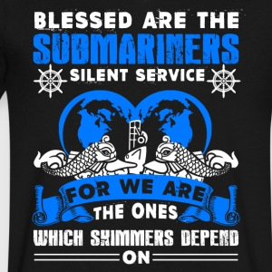Blessed Are The Submariners Shirt - Men's V-Neck T-Shirt by Canvas