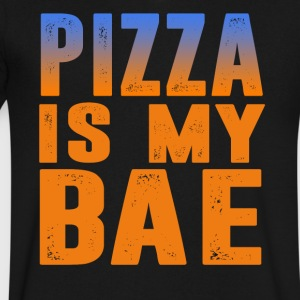 pizza is my bae - Men's V-Neck T-Shirt by Canvas