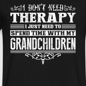 Spend Time With My Grandchildren Shirt - Men's V-Neck T-Shirt by Canvas