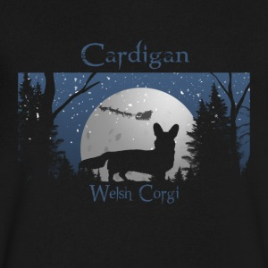 Santa is coming - Cardigan Corgi - Men's V-Neck T-Shirt by Canvas