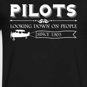 Pilot Shirt - Men's V-Neck T-Shirt by Canvas
