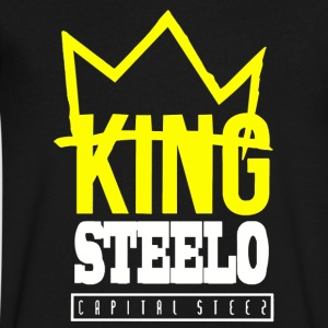 Capital STEEZ KING STEELO - Men's V-Neck T-Shirt by Canvas