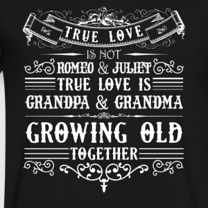 Grandma And Grandpa Growing Old Shirt - Men's V-Neck T-Shirt by Canvas