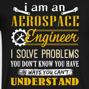 Aerospace Engineer Shirt - Men's V-Neck T-Shirt by Canvas