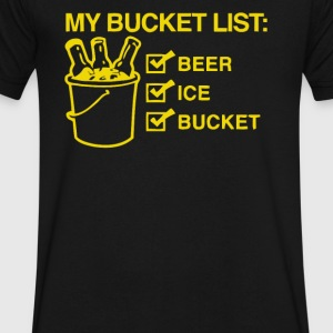 My Bucket List Beer Ice Retired Retirement - Men's V-Neck T-Shirt by Canvas