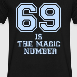 69 Is The Magic Number - Men's V-Neck T-Shirt by Canvas