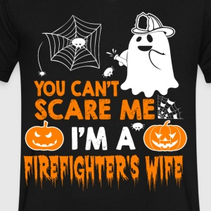 Firefighter wife - Men's V-Neck T-Shirt by Canvas