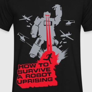 How to survive a robot uprisin - Men's V-Neck T-Shirt by Canvas