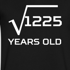 Square Root 1225 Funny 35 Years Old 35th Birthday - Men's V-Neck T-Shirt by Canvas