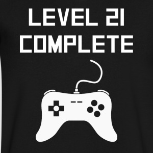 Level 21 Complete Video Games 21st Birthday - Men's V-Neck T-Shirt by Canvas