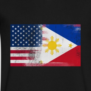 Filipino American Half Philippines Half America - Men's V-Neck T-Shirt by Canvas