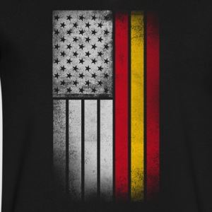 Spanish American Flag - Half Spanish Half American - Men's V-Neck T-Shirt by Canvas