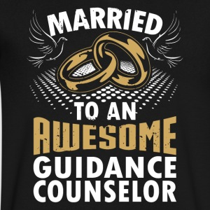 Married To An Awesome Guidance Counselor - Men's V-Neck T-Shirt by Canvas