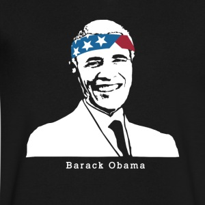 President Barack Obama American Patriot Vintage - Men's V-Neck T-Shirt by Canvas