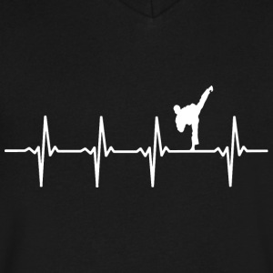 Karate - Heartbeat - Men's V-Neck T-Shirt by Canvas