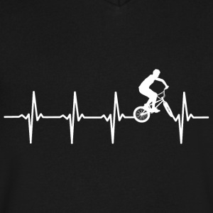 BMX - Heartbeat - Men's V-Neck T-Shirt by Canvas