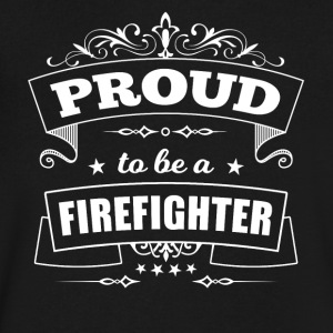Proud to be a Firefighter - Men's V-Neck T-Shirt by Canvas
