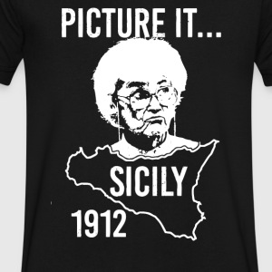 Picture it Sicily 1912 - Men's V-Neck T-Shirt by Canvas
