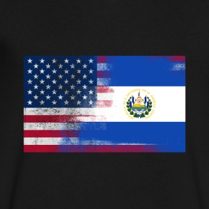 Salvadoran American Half El Salvador Half America - Men's V-Neck T-Shirt by Canvas