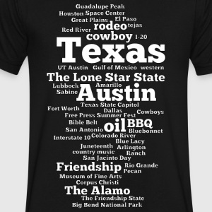 Texas (US state, The Lone Star State) - Men's V-Neck T-Shirt by Canvas