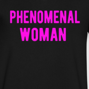 Phenomenal Woman T-Shirt - Men's V-Neck T-Shirt by Canvas