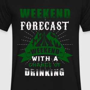 weekend with parties, drinking t-shirt - Men's V-Neck T-Shirt by Canvas
