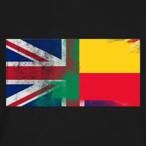 British Beninese Half Benin Half UK Flag - Men's V-Neck T-Shirt by Canvas