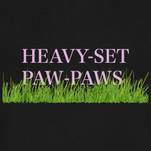 Grass Paw Paws copy solid - Men's V-Neck T-Shirt by Canvas