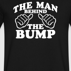 The Man Behind The Bump - Men's V-Neck T-Shirt by Canvas