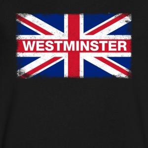Westminster Shirt Vintage United Kingdom Flag T-Sh - Men's V-Neck T-Shirt by Canvas
