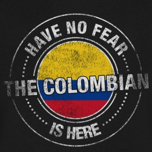 Have No Fear The Colombian is Here - Men's V-Neck T-Shirt by Canvas