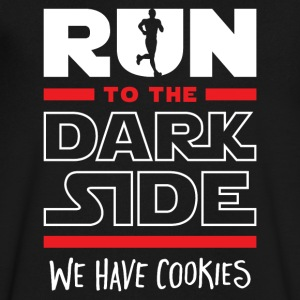 Run To The Dark Side, We Have Cookies - Men's V-Neck T-Shirt by Canvas
