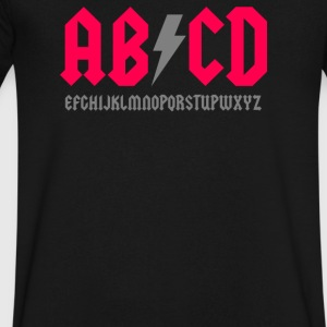 Abcde Parody - Men's V-Neck T-Shirt by Canvas