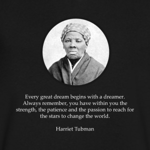 Harriet Tubman Quote Civil Rights - Men's V-Neck T-Shirt by Canvas