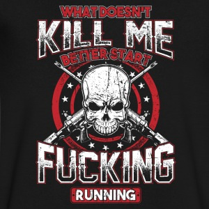 What Doesn t Kill Me! Badass! Skull! - Men's V-Neck T-Shirt by Canvas